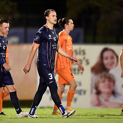 BRISBANE, AUSTRALIA - APRIL 9:  during the NPL Queensland Senior Men's Round 5 match between Eastern Suburbs and Olympic FC on April 9, 2021 in Brisbane, Australia. (Photo by Patrick Kearney)