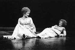 Judi Dench (left) and Polly James as Portia and Nerissa in The Merchant of Venice.