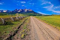 Last Dollar Ranch (Sneffels Range in back), near RIdgway, Colorado USA