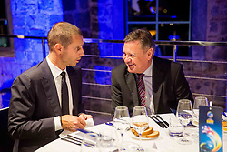Aleksander Ceferin, president of UEFA and Zoran Jankovic, mayor of Ljubljana at Official dinner ahead to the UEFA Futsal EURO 2018 Draw, on September 28, 2017 in Ljubljanski grad, Ljubljana, Slovenia. Photo by Vid Ponikvar / Sportida