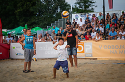during the Beach volley National Championship of Slovenia  on July 20, 2019 in Kranj, Slovenia. Photo by Urban Meglic / Sportida