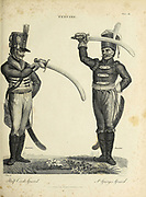 Half Circle Guard (left) St. George's Guard (right) Copperplate engraving From the Encyclopaedia Londinensis or, Universal dictionary of arts, sciences, and literature; Volume VII;  Edited by Wilkes, John. Published in London in 1810