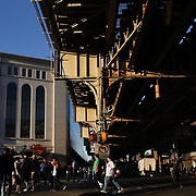 Fans arriving at Yankees Stadium before the New York Yankees Vs Houston Astros, Wildcard game at Yankee Stadium, The Bronx, New York. 6th October 2015 Photo Tim Clayton for The Players Tribune