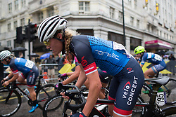 Claudia Koster (NED) of Veloconcept Cycling Team leans into a corner in the third lap of the Prudential Ride London Classique - a 66 km road race, starting and finishing in London on July 29, 2017, in London, United Kingdom. (Photo by Balint Hamvas/Velofocus.com)