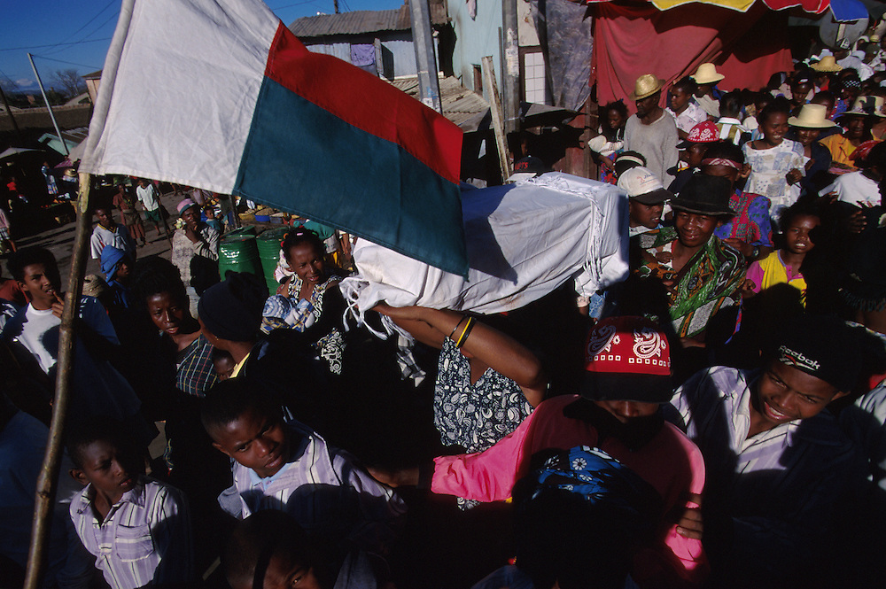 Funerals are lively affairs in Antananarivo, Madagascar