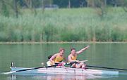 Lucerne, Switzerland. 1995 FISA WC III, Lake Rotsee, Lucerne,<br /> AUS M2+<br /> [Mandatory Credit. Peter SPURRIER/Intersport Images]<br /> <br /> Image scanned from Colour Negative