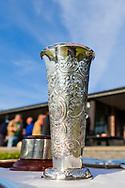 17-05-2015 NGF Competitie 2015, Hoofdklasse Heren - Dames Standaard - Finale, Golfsocieteit De Lage Vuursche, Den Dolder, Nederland. 17 mei. VARIOUS Kampioensbeker dames , na de overwinning.