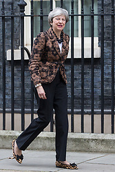 London, UK. 21st January, 2019. Prime Minister Theresa May prepares to welcome the Prime Minister of New Zealand Jacinda Ardern to 10 Downing Street for talks.