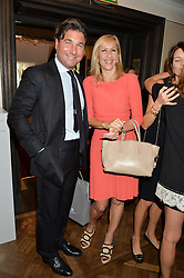 GIORGIO VERONI and TANIA BRYER at the 3rd annual Gynaecological Cancer Fund Ladies Lunch at Fortnum & Mason, 181 Piccadilly, London on 29th September 2016.