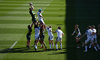 Rugby Union - 2020 / 2021 Gallagher Premiership - Round 11 - Northampton Saints vs Bath - Franklin Gardens<br /> <br /> Northampton Saints' Dave Ribbans claims the lineout.<br /> <br /> COLORSPORT/ASHLEY WESTERN