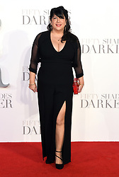 Author E. L. James arriving for the Fifty Shader Darker European Premiere held at Odeon Leicester Square, London. Picture date: Thursday February 9, 2016. Photo credit should read: Doug Peters/ EMPICS Entertainment