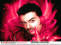 April 18, 2012 - London, England, United Kingdom - GEORGE MICHAEL IN LA ON THE SET OF HIS NEW VIDEO  SHOOT FOR 'FREEEK' WHICH IS RELEASED ON MONDAY 18TH MARCH 2002...   18TH MARCH 2002 (Credit Image: © London Features/Avalon via ZUMA Press)