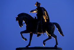 Stock photo of the statue of General Sam Houston at the entrance of Hermann Park in Houston Texas