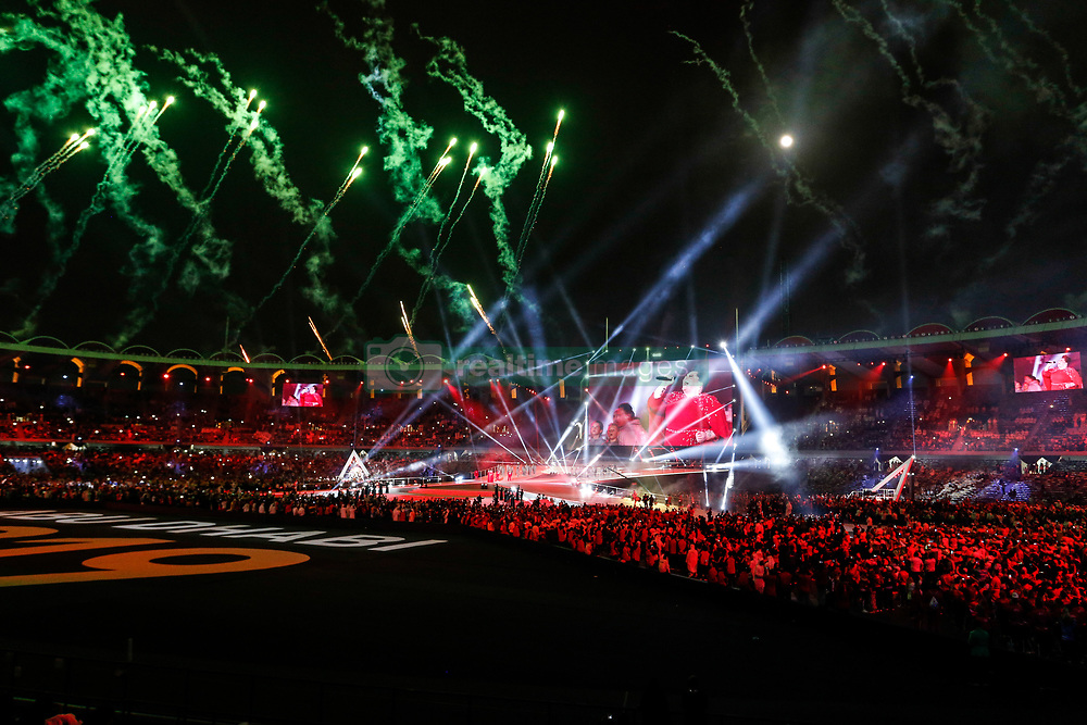 March 21, 2019 - Abu Dhabi, United Arab Emirates - A singer Keala Settle performs during Closing Ceremony of Special Olympics World Games in Zayed Sports City in Abu Dhabi, United Arab Emirates on March 21, 2019.  Special Olympics is a worldwide organization which organize sports competitions for people with learning difficulties. Summer World Games take place every 4 years. 7500 athletes from nearly 200 countries compete in 24 Olympic Sport disciplines in Abu Dhabi Games in 2019. (Credit Image: © Dominika Zarzycka/NurPhoto via ZUMA Press)