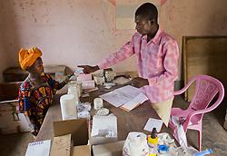 June 6, 2013 - Bolom Village, Central African Republic - sick patients at MSF mobile clinic in CAR (Credit Image: © Ton Koene/ZUMAPRESS.com)