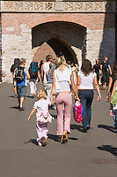 People walking in the Old town Stre Miasto Krakow Poland