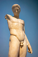 Male Greek nude statue in the British Museum