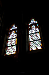 Windows in church, Budapest, Hungary