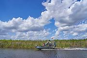 Boat on Florida everglades