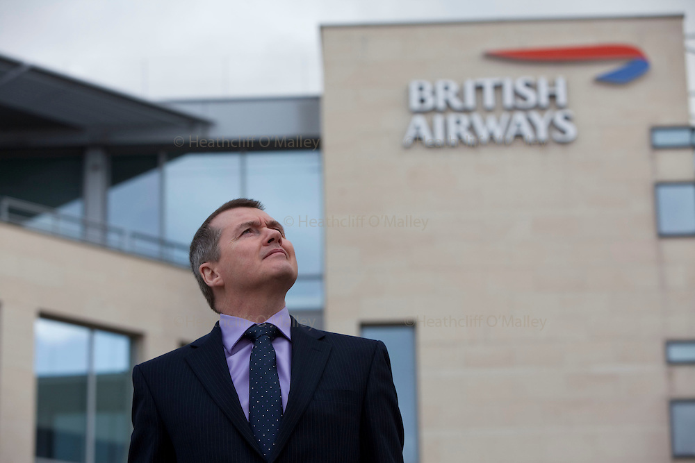 May0021731 . Daily Telegraph..Willie Walsh, the CEO of British Airways at the head offices in Uxbridge on the eve of a 4 day walkout by BA cabin crew....Uxbridge , 26 March  2010