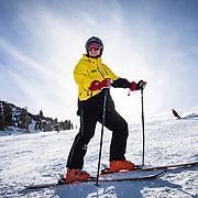 Jim Sanford, 72, serves as a Ski Host on Mammoth Mountain.