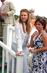 SARAH, DUCHESS OF YORK at the Queen's Cup polo final sponsored by Cartier at Guards Polo Club, Smith's Lawn, Windsor Great Park on 18th June 2006.  The Final was between Dubai and the Broncos polo teams with Dubai winning.<br />