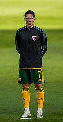 DUBLIN, REPUBLIC OF IRELAND - Sunday, October 11, 2020: Wales' Harry Wilson lines-up for the national anthem before the UEFA Nations League Group Stage League B Group 4 match between Republic of Ireland and Wales at the Aviva Stadium. The game ended in a 0-0 draw. (Pic by David Rawcliffe/Propaganda)