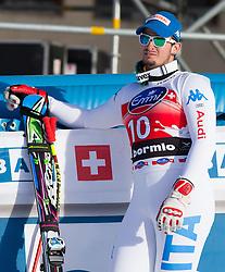 29.12.2012, Stelvio, Bormio, ITA, FIS Weltcup, Ski Alpin, Abfahrt, Herren, Podium, im Bild Dominik Paris (ITA, Platz 1) // 1st place Dominik Paris of Italy reacts before Podium after the mens Downhill race of the FIS Ski Alpine Worldcup at the Stelvio course, Bormio, Italy on 2012/12/29. EXPA Pictures © 2012, PhotoCredit: EXPA/ Johann Groder