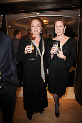 Left to right, CAMILLA LOWTHER and Sydney Ingle-Finch at a dinner hosted by jewellers Damiani at The Connaught Hotel, London on 3rd February 2010.