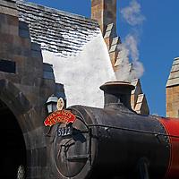 USA, Florida, Orlando. Wizarding World of Harry Potter at Universal Islands of Adventure.
