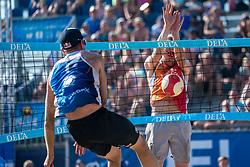 25-08-2019 NED: DELA NK Beach Volleyball, Scheveningen<br /> Last day NK Beachvolleyball / Stefan Boermans #2, Alexander Brouwer #1
