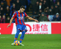 December 9, 2017 - London, Greater London, England - Crystal Palace's Luka Milivojevic scores from the penalty spot..during Premier League  match between Crystal Palace and AFC Bournemouth at Selhurst Park Stadium, London,  England 09 Dec 2017. (Credit Image: © Kieran Galvin/NurPhoto via ZUMA Press)