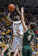 WICHITA, KS - NOVEMBER 14:  Forward Cleanthany Early #11 of the Wichita State Shockers puts up a shot against guard Omar Prewitt #4 of the William & Mary Tribe during the first half on November 14, 2013 at Charles Koch Arena in Wichita, Kansas.  Wichita State defeated William & Mary 79-62. (Photo by Peter Aiken/Getty Images) *** Local Caption *** Forward Cleanthany Early