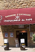 wine shop baronnie d'estouard chateauneuf du pape rhone france