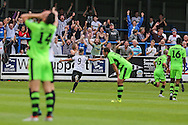 Ricky Miller celebrates scoring a goal, 4-3 during the Vanarama National League match between Dover Athletic and Forest Green Rovers at Crabble Athletic Ground, Dover, United Kingdom on 10 September 2016. Photo by Shane Healey.
