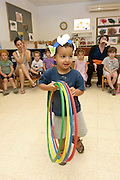 Israeli 3 year old children in a kindergarten