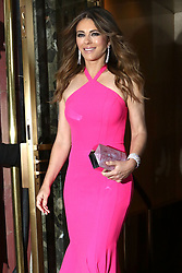 Elizabeth Hurley is seen out and about in New York.