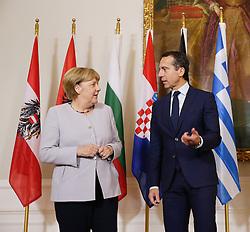 """24.09.2016, Bundeskanzleramt, Wien, AUT, Gipfeltreffen unter dem Titel """"Migration entlang der Balkanroute"""", im Bild v.l.n.r. Bundeskanzlerin Deutschland Angela Merkel Bundeskanzler Christian Kern (SPÖ) // f.l.t.r. Chancellor of Germany Angela Merkel and Federal Chancellor of Austria Christian Kern during """"Migration along the Balkan route"""" Summit in Vienna, Austria on 2016/09/24, EXPA Pictures © 2016, PhotoCredit: EXPA/ BKA/ Andy Wenzel <br /> <br /> ***** VOLLSTÄNDIGE COPYRIGHTNENNUNG VERPFLICHTEND // MANDATORY CREDIT *****"""