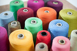 Group of multicolor reel of sewing thread, Bavaria, Germany