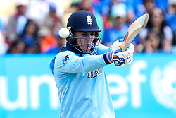 Jason Roy of England misses a pull shot - Mandatory by-line: Robbie Stephenson/JMP - 30/06/2019 - CRICKET - Edgbaston - Birmingham, England - England v India - ICC Cricket World Cup 2019 - Group Stage