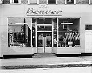"Ackroyd 00052-2. ""The Beaver Restaurant. August 15, 1947"" 2384 NW Thurman"