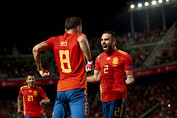 September 11, 2018 - Elche, Spain - Saul Niguez of Spain celebrates goal with team mates Dani Carvajal of Spain  during the UEFA Nations League football match between Spain and Croatia at Martinez Valero Stadium in Elche, Spain on September 8, 2018. (Credit Image: © Jose Breton/NurPhoto/ZUMA Press)