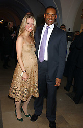 ADAM AFRIYIE MP  and his wife TRACY-JANE at a dinner attended by the Conservative leader Michael Howard and David Davis and David Cameron held at the Banqueting Hall, Whitehall, London on 29th November 2005.<br /><br />NON EXCLUSIVE - WORLD RIGHTS