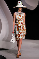 Phoebe Leonard walks the runway  at the Christian Dior Cruise Collection 2008 Fashion Show