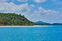 Nacapan islands beaches between El Nido and coron in Palawan Philippines