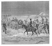 Prisoners on the road to exile in Siberia. From 'The Countries of the World', London, c1880. Engraving.