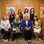 16.08. 2017.                                                      <br /> Johnson & Johnson and the University of Limerick WiSTEM Programme. <br /> Pictured at the event were back row standing left to right, Megan Carroll, Marguerite O'Sullivan, Kristine Surat, Easa Man and Niamh Sheahan. Front row left to right, Siobhan Phelan, Janice O'Gorman, Kathy Wengel and Jessica Silva. Picture: Alan Place