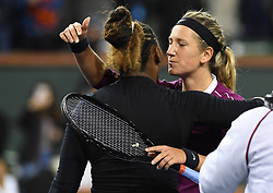 March 8, 2019 - Palm Desert, California, Usa - Tennis : BNP Paribas Open 2019 - Serena Williams - USA - Victoria Azarenka - Bielorussie (Credit Image: © Panoramic via ZUMA Press)