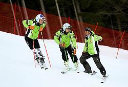 German athletes prior to the 10th Men's Slalom - Pokal Vitranc 2014 of FIS Alpine Ski World Cup 2013/2014, on March 8, 2014 in Vitranc, Kranjska Gora, Slovenia. Photo by Matic Klansek Velej / Sportida