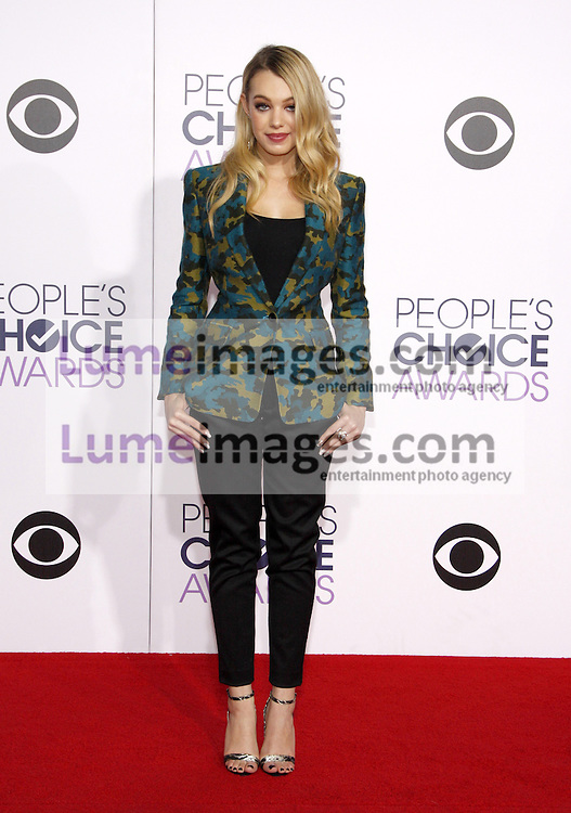 Sadie Calvano at the 41st Annual People's Choice Awards held at the Nokia L.A. Live Theatre in Los Angeles on January 7, 2015. Credit: Lumeimages.com